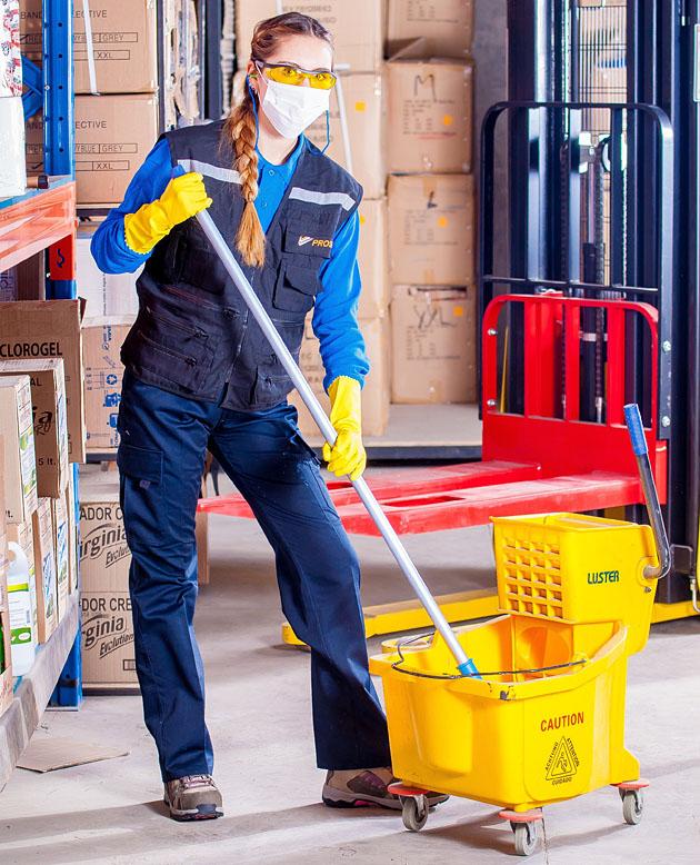 Ipari takarítás, vízhasználat
